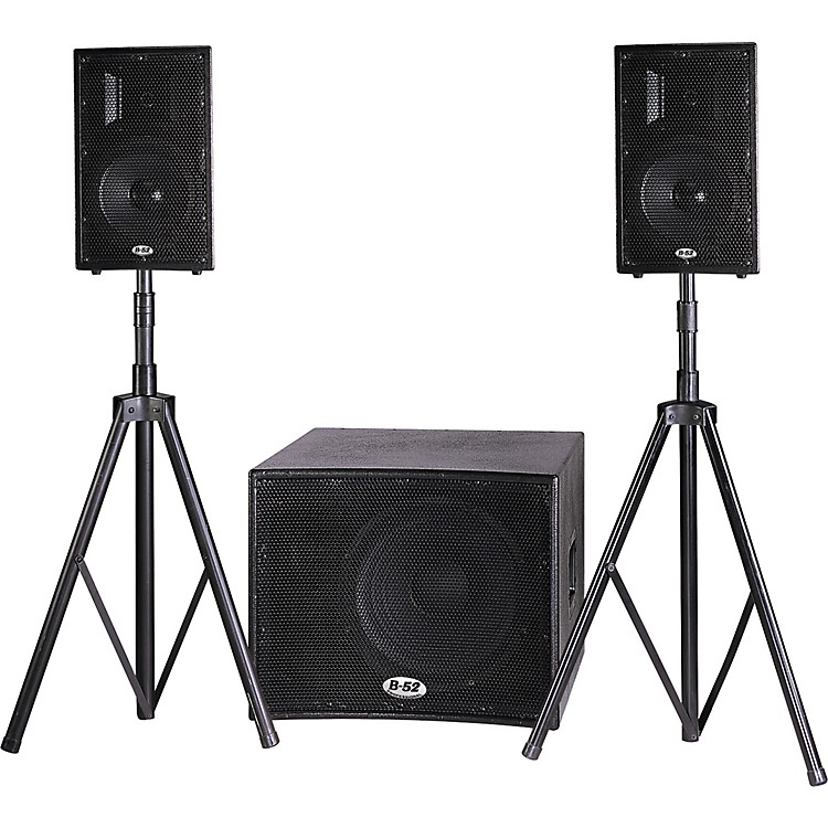 b 52 matrix 1000v2 pa system with stands musician 39 s friend. Black Bedroom Furniture Sets. Home Design Ideas