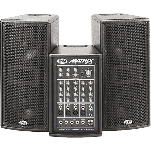 B-52 Matrix-200 200W 3-Piece Active PA system