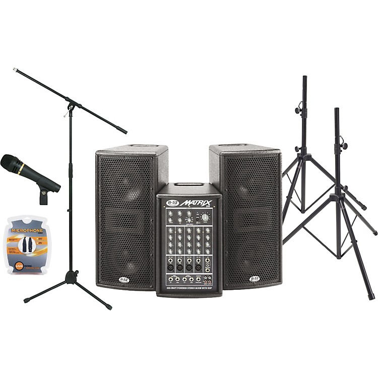 b 52 matrix 200 portable pa package musician 39 s friend. Black Bedroom Furniture Sets. Home Design Ideas