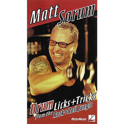 Hal Leonard Matt Sorum - Drum Licks+Tricks from the Rock'n'Roll Jungle VHS Video