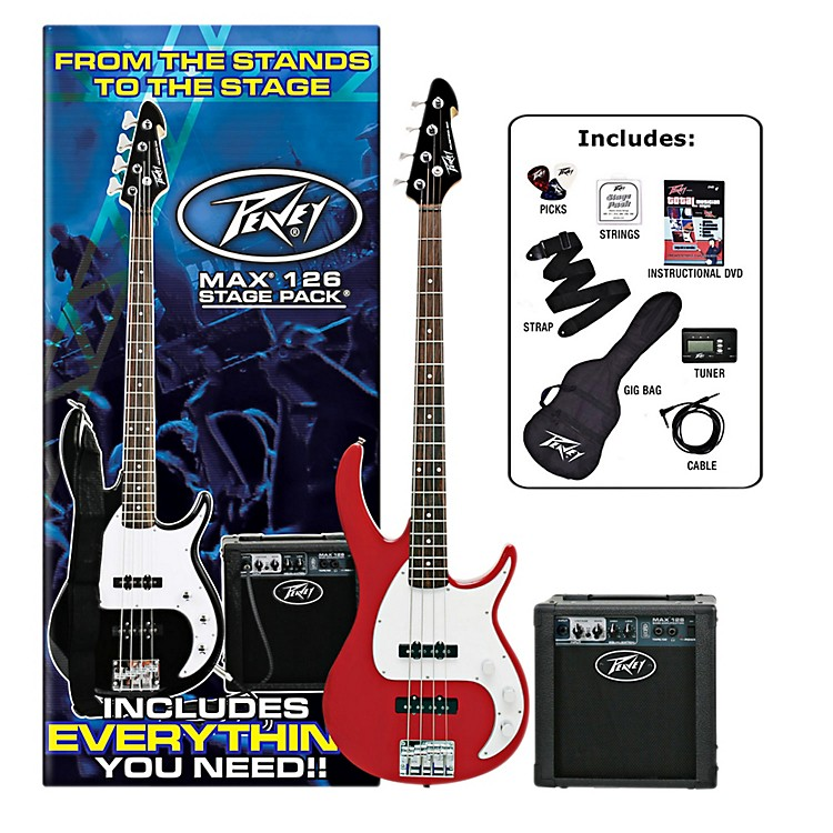 Peavey Max Electric Bass Value Pack Red