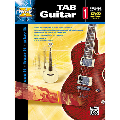 Alfred Max Tab Guitar 1 (Book and DVD)