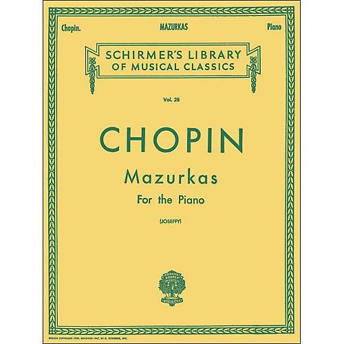 G. Schirmer Mazurkas for Piano By Chopin-thumbnail