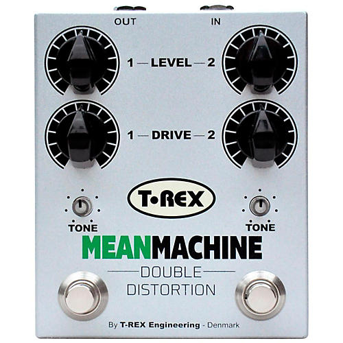 T-Rex Engineering Mean Machine Twin-Channel Distortion Guitar Effects Pedal