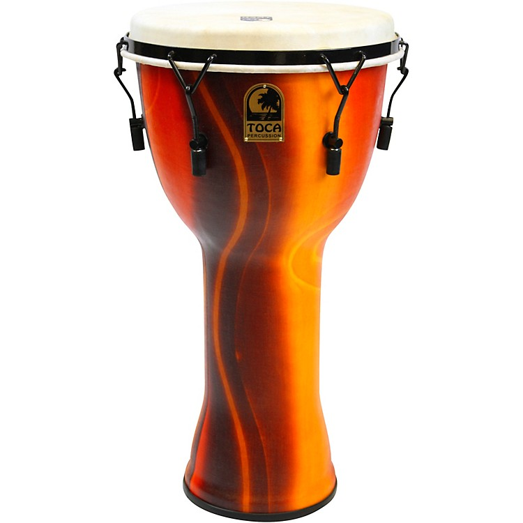 Toca Mechanically Tuned Djembe with Extended Rim 14 inch Black Mamba
