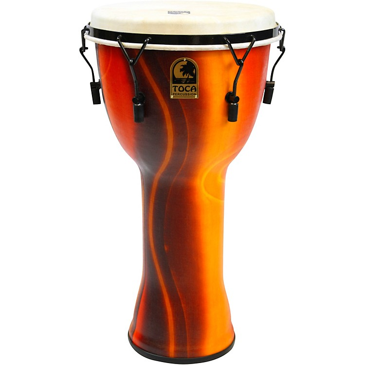 Toca Mechanically Tuned Djembe with Extended Rim 12 inch Fiesta