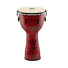 Meinl Mechanically Tuned Fiberglass Goatskin Head Djembe Pharaohs Script 12 in.