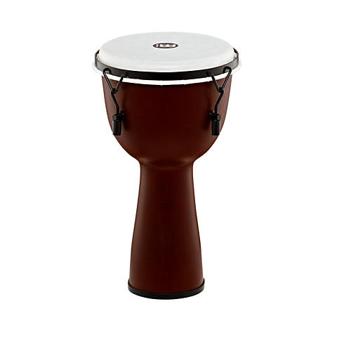 Meinl Mechanically Tuned Fiberglass Synthetic Head Djembe Earth Brown 10 in.
