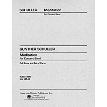 Associated Meditation for Concert Band (Score and Parts) Concert Band Level 4-5 Composed by Gunther Schuller