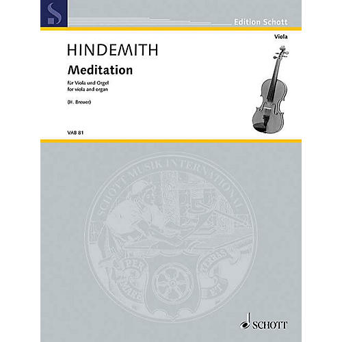 Schott Meditation from Nobilissima Visione (arranged for Viola and Organ) String Series Softcover-thumbnail