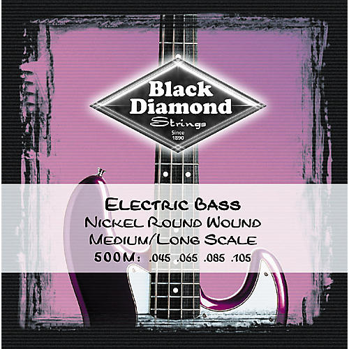 Black Diamond Medium Nickel Roundwound Long Scale Bass Strings