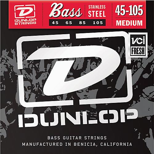 Dunlop Medium Stainless Steel Bass Strings-thumbnail