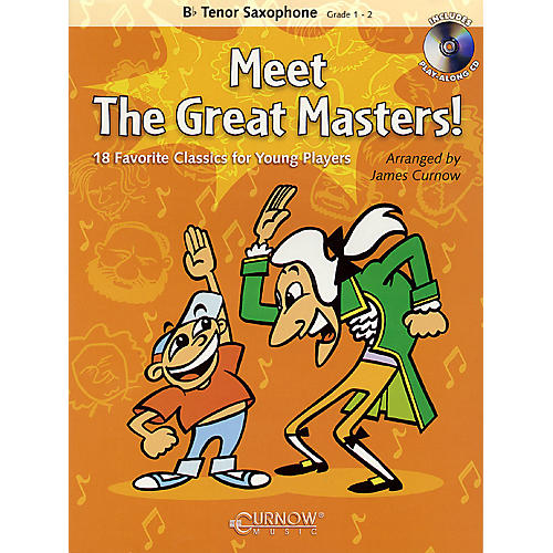 Curnow Music Meet the Great Masters! (Bb Tenor Saxophone - Grade 1-2) Concert Band Level 1-2-thumbnail