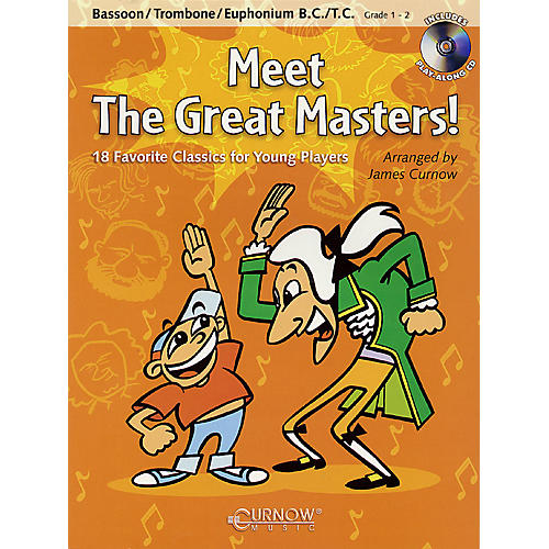 Curnow Music Meet the Great Masters! (Trombone - Grade 1-2) Concert Band Level 1-2-thumbnail