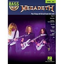 Hal Leonard Megadeth - Bass Play-Along Volume 44 Book/CD