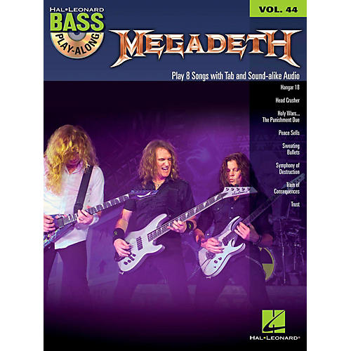 Hal Leonard Megadeth - Bass Play-Along Volume 44 Book/CD-thumbnail