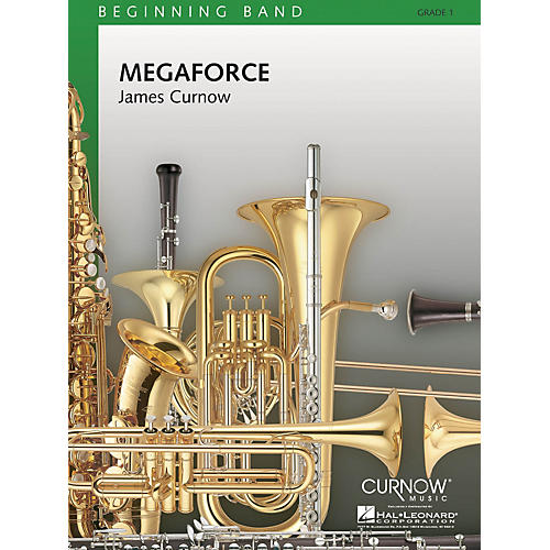 Curnow Music Megaforce (Grade 1 - Score Only) Concert Band Level 1 Composed by James Curnow-thumbnail