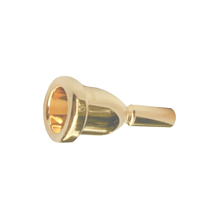 Bach Megatone Large Shank Trombone Mouthpiece in Gold