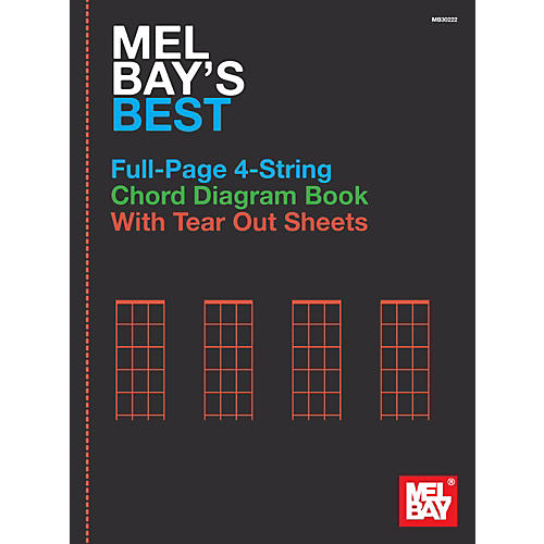 Mel Bay Mel Bay's Best Full-Page 4-String Chord Diagram Book