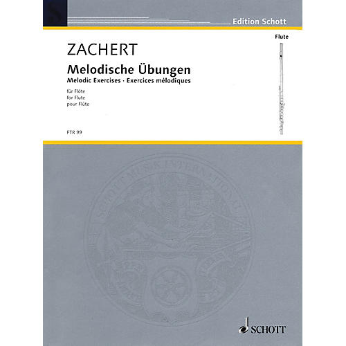 Schott Melodic Exercises for Flute Schott Series Softcover-thumbnail