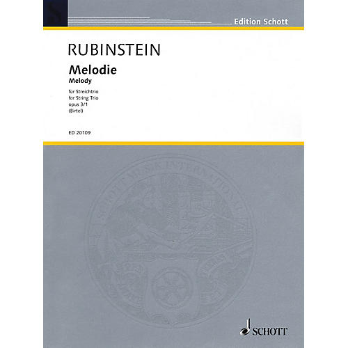 Schott Music Melodie for String Trio Op. 3, No. 1 String Composed by Anton Rubinstein Arranged by Wolfgang Birtel-thumbnail