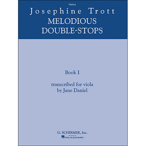 G. Schirmer Melodious Double Stops Book 1 Viola By Trott