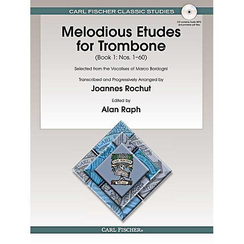 Carl Fischer Melodious Etudes for Trombone (Book/CD) - Joannes Rochut BOOK 1