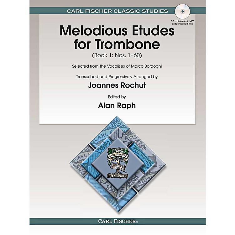 Carl FischerMelodious Etudes for Trombone (Book/CD) - Joannes RochutBOOK 1