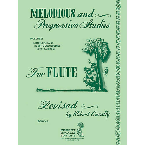 Hal Leonard Melodious and Progressive Studies for Flute - Book 4A Robert Cavally Editions Series by Ernesto Köhler-thumbnail