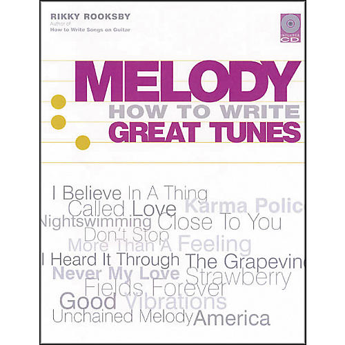 Backbeat Books Melody - How to Write Great Tunes (Book and CD Package)