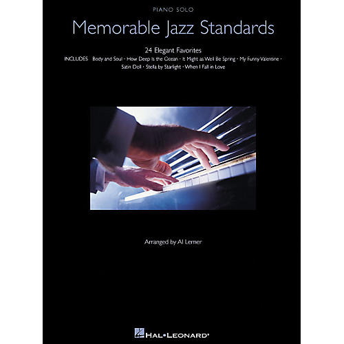 Hal Leonard Memorable Jazz Standards for Piano Solo - 24 Elegant Favorites