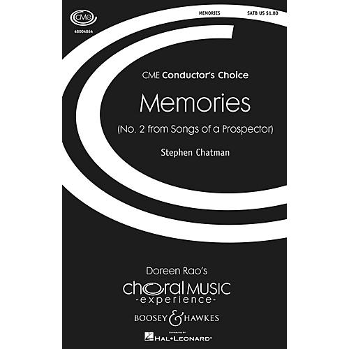 Boosey and Hawkes Memories (No. 2 from Songs of a Prospector) CME Conductor's Choice SATB composed by Stephen Chatman-thumbnail