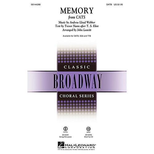 Hal Leonard Memory (from Cats) TTB Arranged by John Leavitt