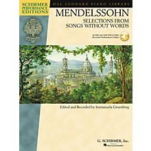 G. Schirmer Mendelssohn - Selections from Songs Without Words Schirmer Performance Edition BK/Audio Online