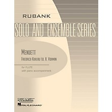 Rubank Publications Menuett (Flute Solo with Piano - Grade 2.5) Rubank Solo/Ensemble Sheet Series