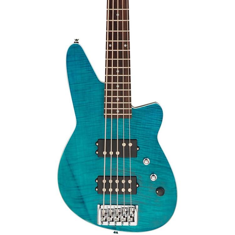 ReverendMercalli 5 FM 5-String Electric Bass GuitarTurquoise Flame Maple