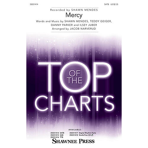 Shawnee Press Mercy SATB by Shawn Mendes arranged by Jacob Narverud-thumbnail