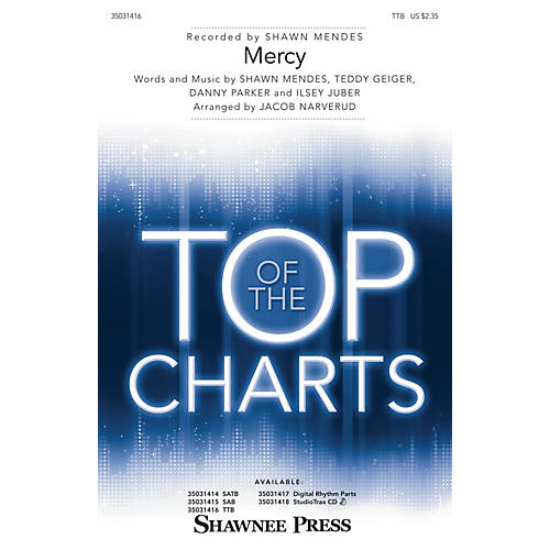 Shawnee Press Mercy TTB by Shawn Mendes arranged by Jacob Narverud-thumbnail
