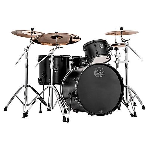 Mapex Meridian Black Raven 4-Piece Shell Pack