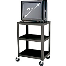 "H. Wilson Metal 34"" 3 Shelf Cart"