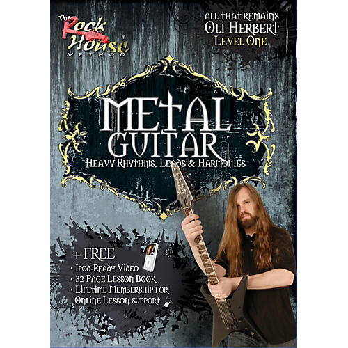 Rock House Metal Guitar- Heavy Rhythms, Leads & Harmonies Level 1 with Oli Herbert of All That Remains (DVD)