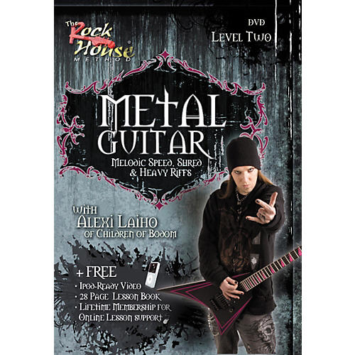 Rock House Metal Guitar Melodic Speed, Shred & Heavy Riffs Level 2 With Alexi Laiho of Children of Bodom DVD