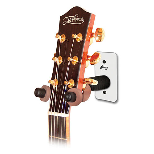 String Swing Metal Guitar Wall Hanger White