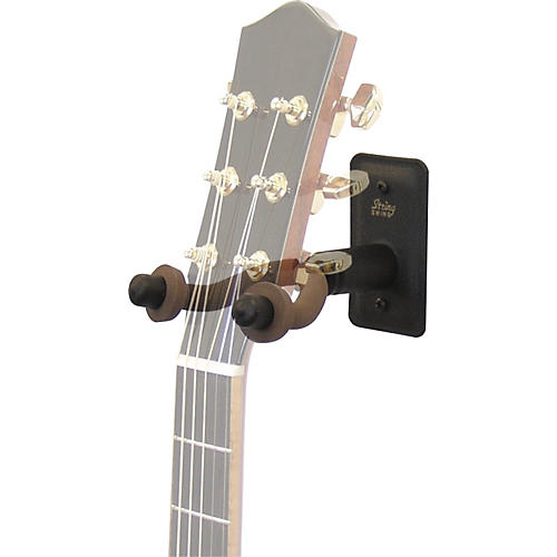 String Swing Metal Guitar Wall Hanger w/ Wall Bumper