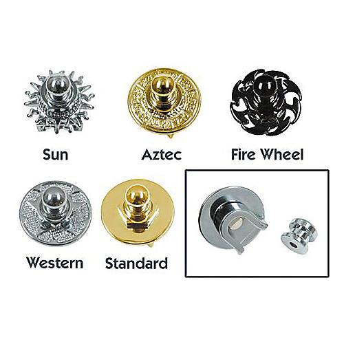Q Parts Metal Series Straplock Gold Fire Wheel