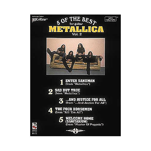 Cherry Lane Metallica - 5 of the Best for Guitar Volume 2 Book-thumbnail
