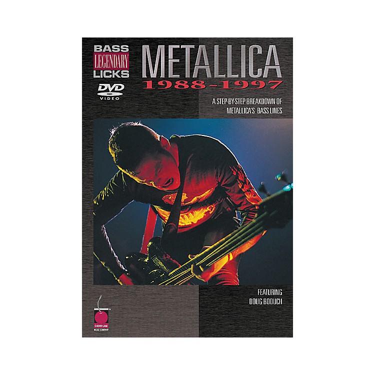 Cherry LaneMetallica - Bass Legendary Licks 1988-1997 (DVD)