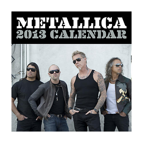 Browntrout Publishing Metallica 2013 Square 12x12 Wall Calendar