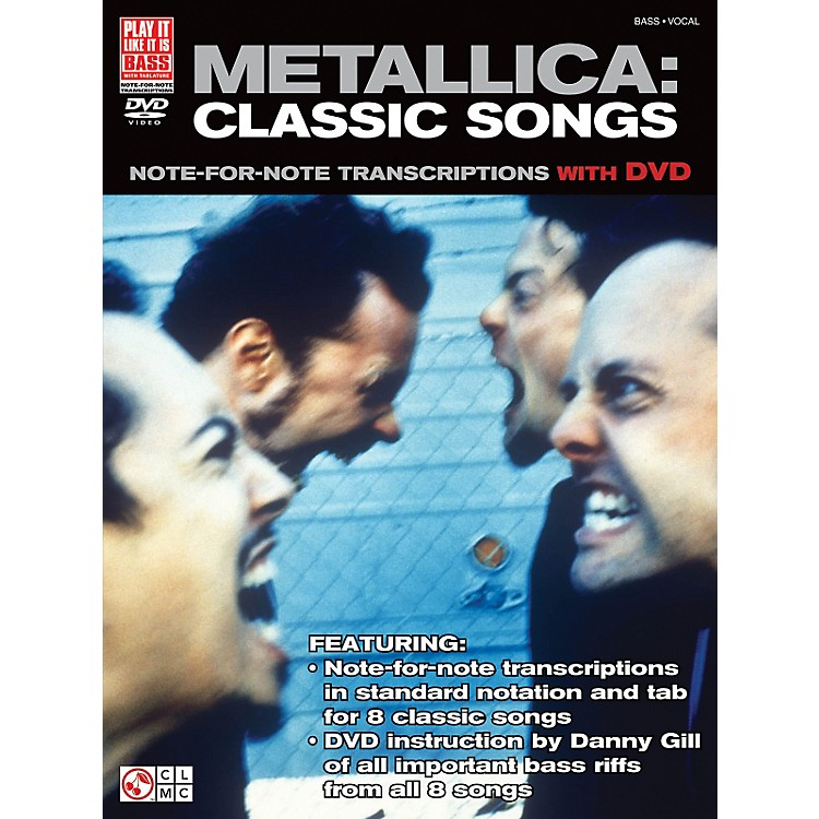 Cherry LaneMetallica Classic Songs For Bass - Note For Note Transcriptions with DVD