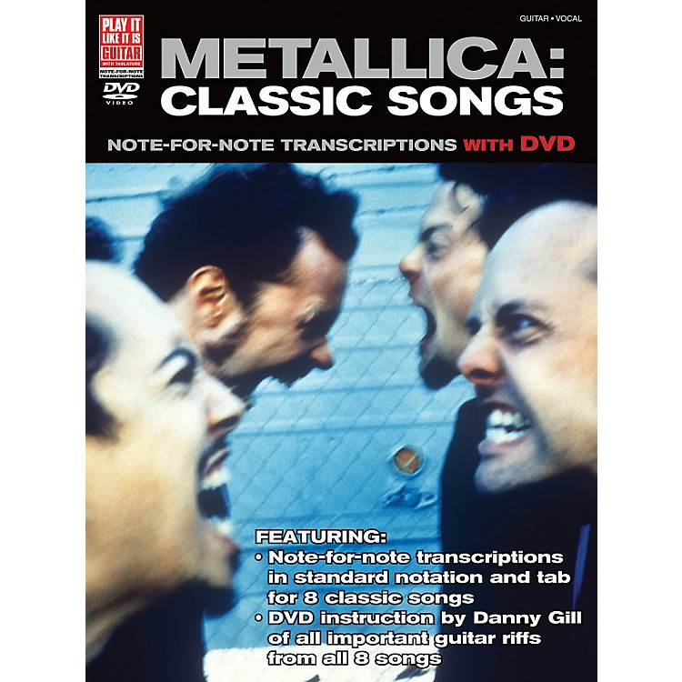 Cherry Lane Metallica Classic Songs For Guitar - Note For Note Transcriptions with DVD